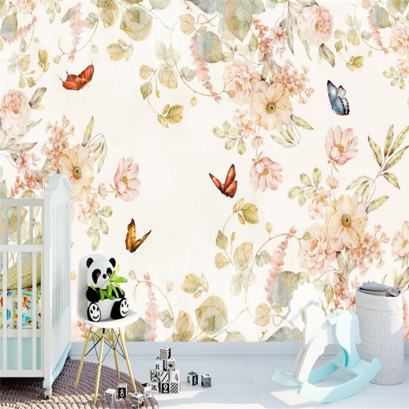 custom modern 3d high quality non-woven wallpaper 3d mural wallpaper simple pattern background wall home decor for kids' room high quality diy romantic flowers pattern wall stickers for home decor