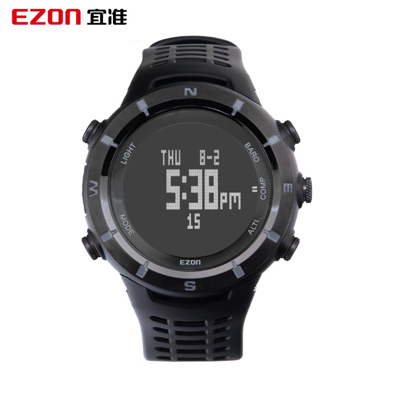 EZON Should Watch Prospective Multi-Functional Sports Watch Outdoor Climbing Temperature Compass Climbing The Watch Height  H001 naturehike multi functional outdoor cross country orienteering pvc compass orange black