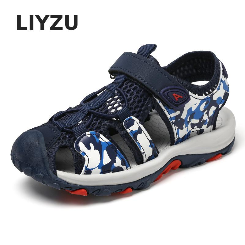 Kids Shoes Summer Pu Leather Closed Toe Camouflage Beach Shoes Boys Sandals Children Shoes Girls Sport Kids Orthopedic Sandals
