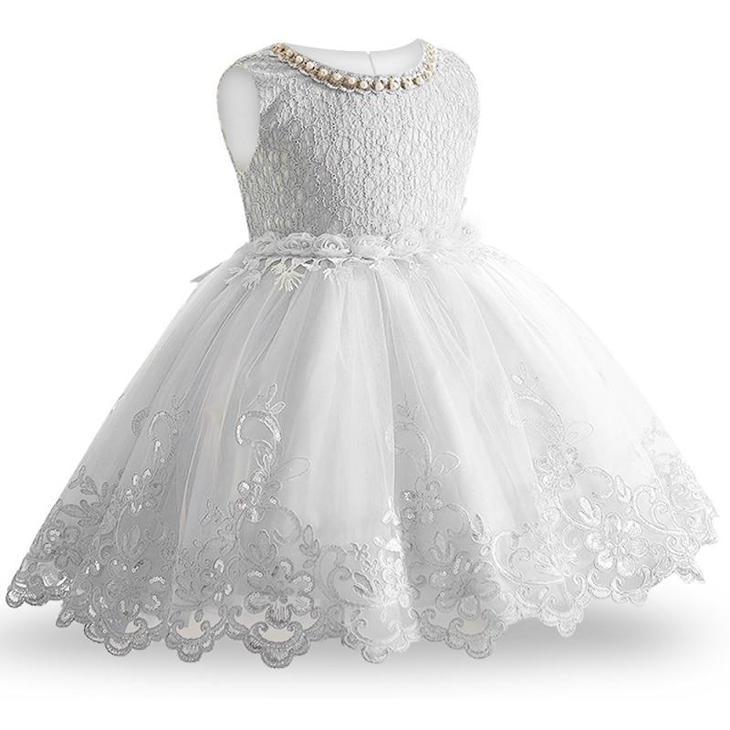 2019 New Lace Baby Girl Dress 9M-24M 1 Years Baby Girls Birthday Dresses Vestido Birthday Party Princess Dress