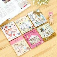 64 Pcs 1 Set Stationary Sticker DIY Children Stickers Kawaii Deco Scrapbooking Sticker Albums PhotoTag Shinzi