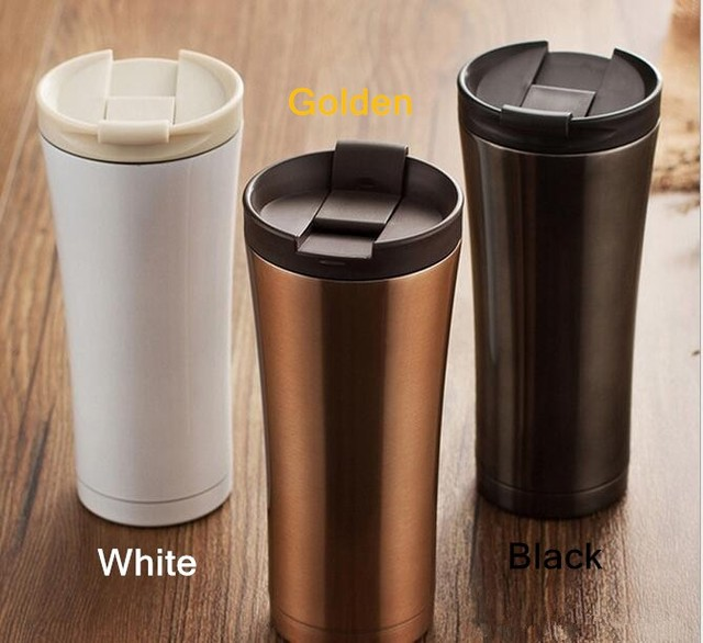 500ml Stainless Steel Auto Cup Small Thermos Vacuum Thermo Flask Termica Bottle Travel Coffee Mug Mini