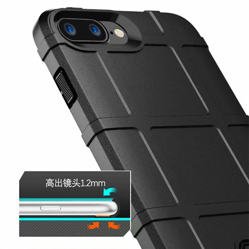 Military Shock Absorption Case for iPhone X XR XS XS Max Rugged Shield Matte Ultra Thick Protective Case for iPhone 6 6s 7 8Plus in Fitted Cases from Cellphones Telecommunications