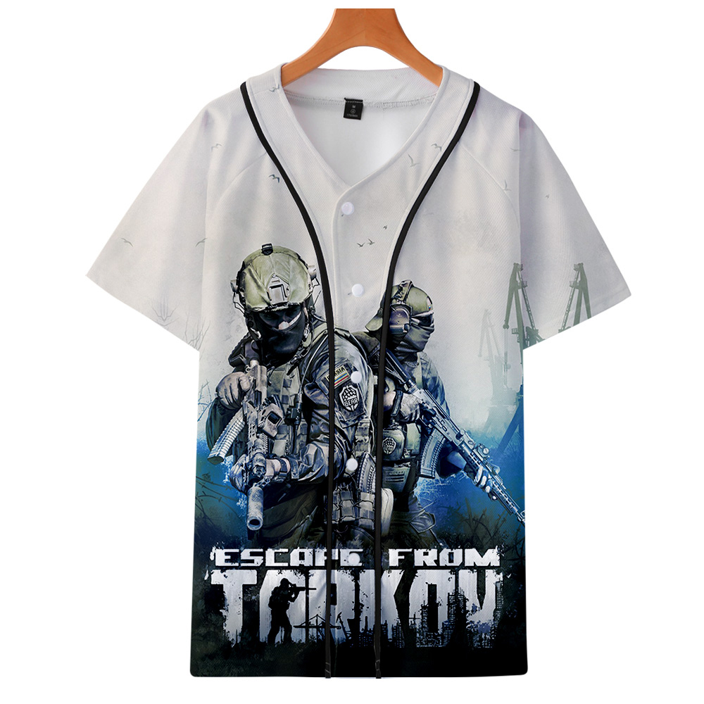 Escape From Tarkov Game Baseball T-shirts Men Harajuku Fashion Summer Short Sleeve 3d Printing Tshirt Streetwear Clothing