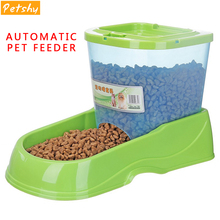 Petshy Pet Automatic Feeder Dog Cat Drinking Water Fountains Large Capacity Pets Food Bowl Dispenser for Dogs Cats