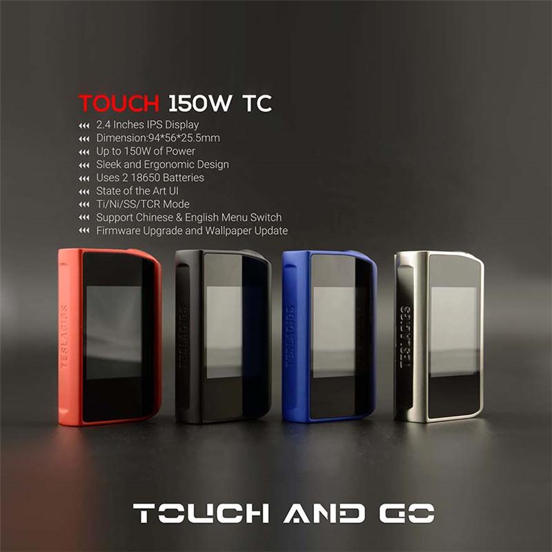 Prix pour D'origine Teslacigs TACTILE 150 TC Mod Tesla 150 W Tactile Boîte Mods Vapeur Cigarettes Électroniques