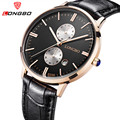 Longbo Luxury Brand Men Leather Strap Analog Quartz Wrist Watch Waterproof Date Casual Watch Men Sport Watches Relogio Masculino