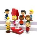 12 Filme Peanuts Charlie Brown Woodstock pçs/set Lucy Franklin Bonecas Anime Figuras de Ação PVC Figuras Crianças Brinquedos Para Meninos Das Meninas