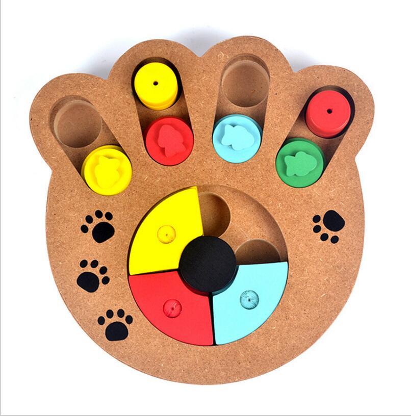 Интерактивные игрушки для собак и кошек Еда лечение деревянные игрушки собаки Экологичные щенок любимая игрушка Обучающие Pet кости лапы ...