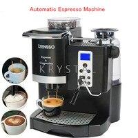 Автоматическая Эспрессо машина в английской версии кофе чайник с Измельчить фасоли и пена молока для дома или кафетерий SN 8650