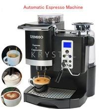 التلقائي ماكينة إسبريسو في الإنجليزية النسخة القهوة صانع مع طحن الفول و زبد الحليب للمنزل أو مقهى SN-8650