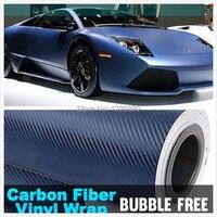 600mmX1520mm 3D Blue Carbon Fiber Textured Vinyl With Bubble Free Air Release DIY Wrap Sheet Film