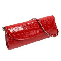 VSEN Fashion Designer Crocodile Pattern Ladies Shoulder Chain Bag Wallet PU Leather Clutch Evening Bag Purse