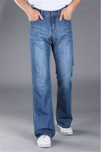 2015 Fashionable Casual Big Men Flare Pants jeans Male Loose Denim Long Trousers Sexy Cool Size 28-38