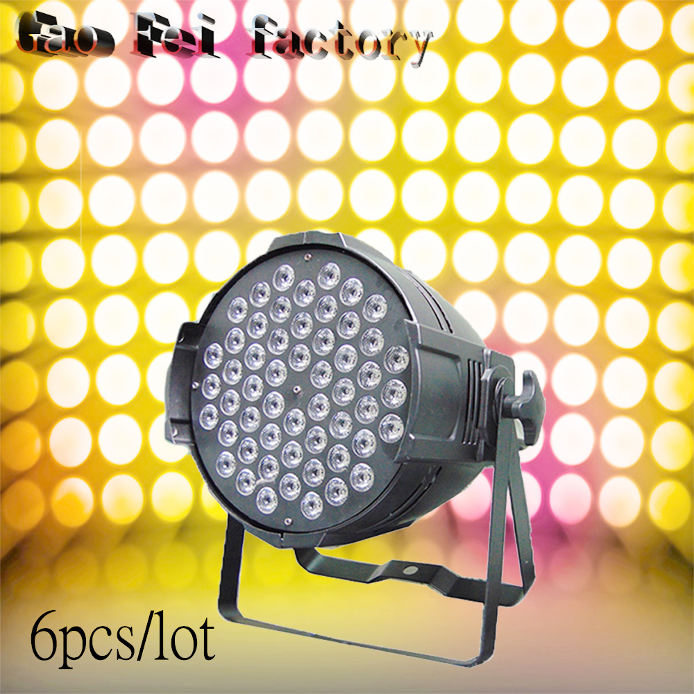 6pcs/lot new arrive 54*3w LED Par light disco dj DMX stage effect lighting RGB mixer background light profession light for club упоры для отжиманий atemi металлические apu 02