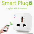 2015 New Smart Wifi plug socket outlet Kankun with EU AU UK adapter Kankun k1 electrical socket to remote control by english app