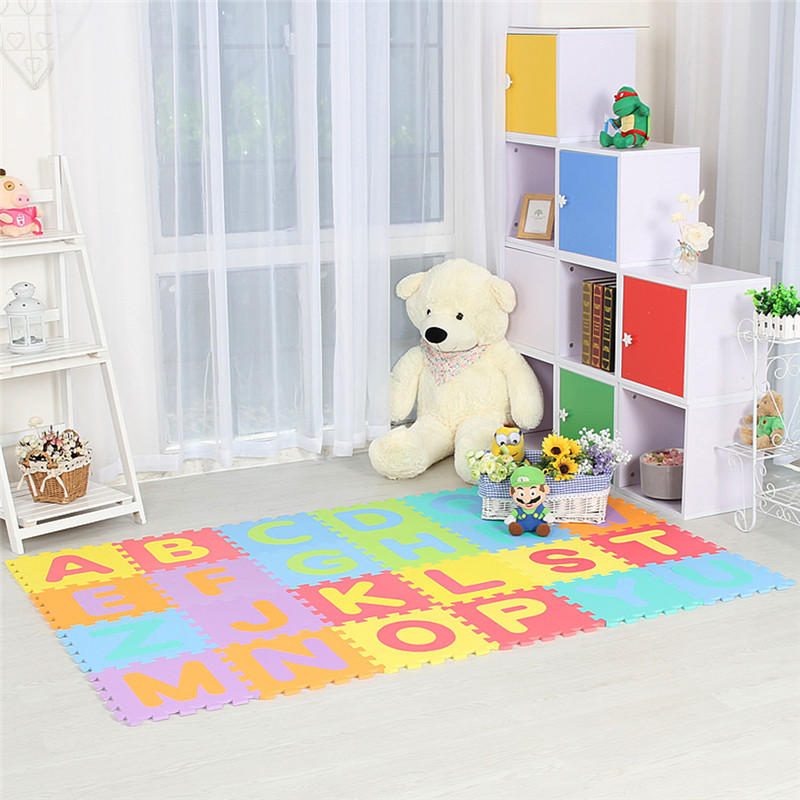 JCC lettre A-Z bébé EVA mousse Puzzle tapis de jeu/enfants tapis tapis de verrouillage exercice plancher pour enfants carreaux 30*30*1 cm