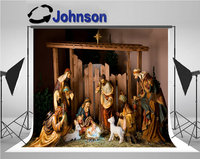 nativity Christmas Manger Figurines Including Jesus Joseph Sheep Magi backdrops Vinyl cloth Computer print wall background
