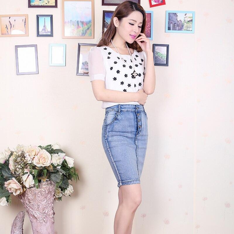 4d3b35c01e5 Detail Feedback Questions about Jeans Skirt High Waist Women Button ...