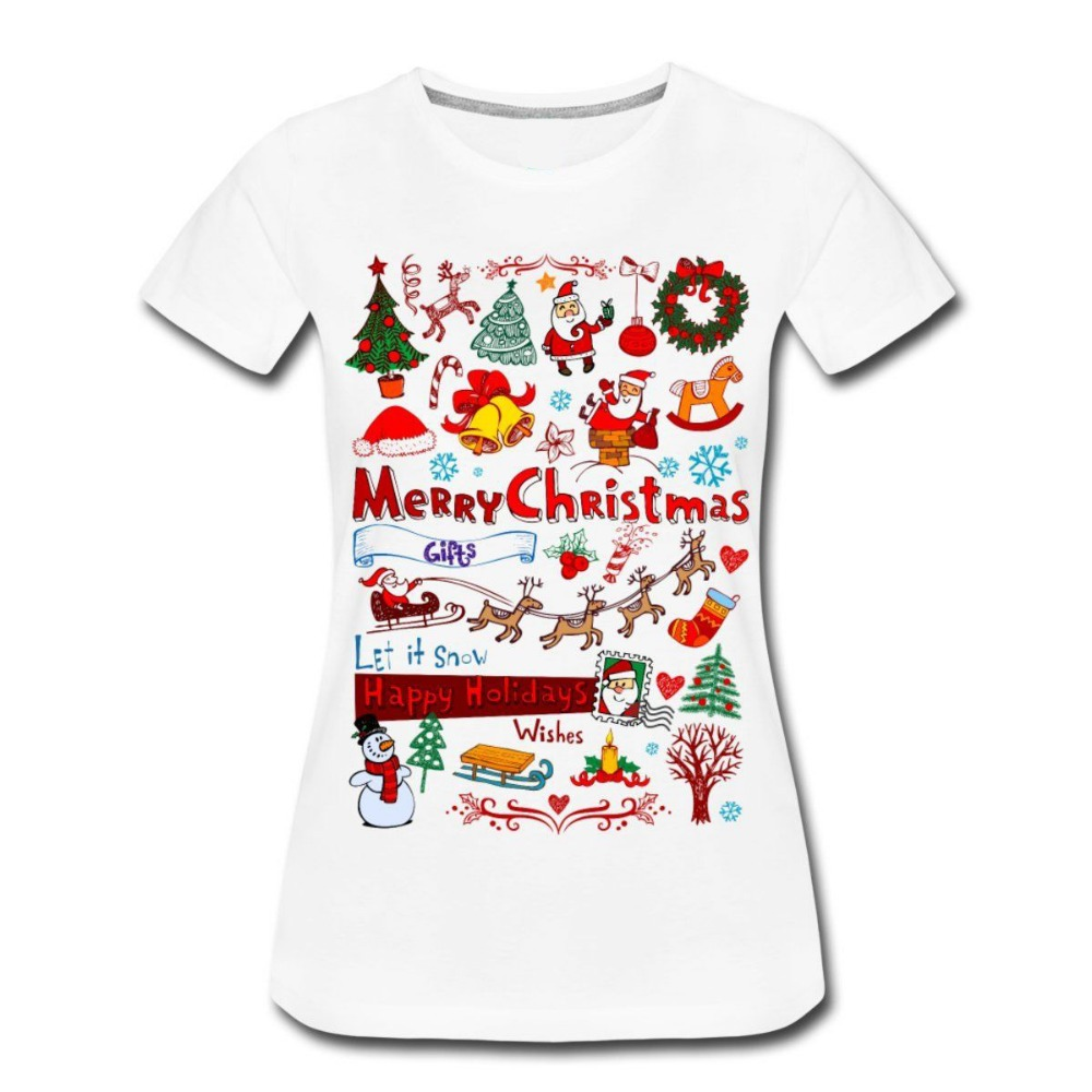 Online buy wholesale christmas tee shirts for women from for Where can i buy t shirts in bulk for cheap