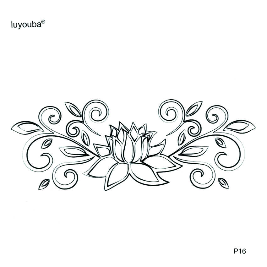 Detail Feedback Questions About Lotus Crown Temporary Tattoo Sticker