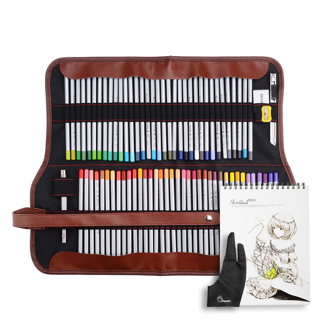 Marco Raffine 72 dibujo lápices + borrador + guante + bolso + A4 ...