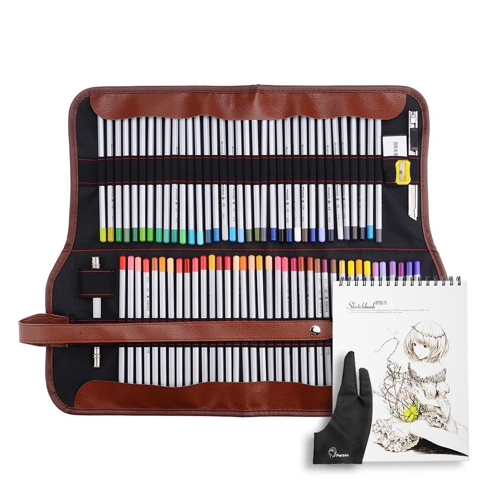 Marco Raffine Art fin 48/72 dessin crayons de couleur + gomme + gant + sac + carnet de croquis A4