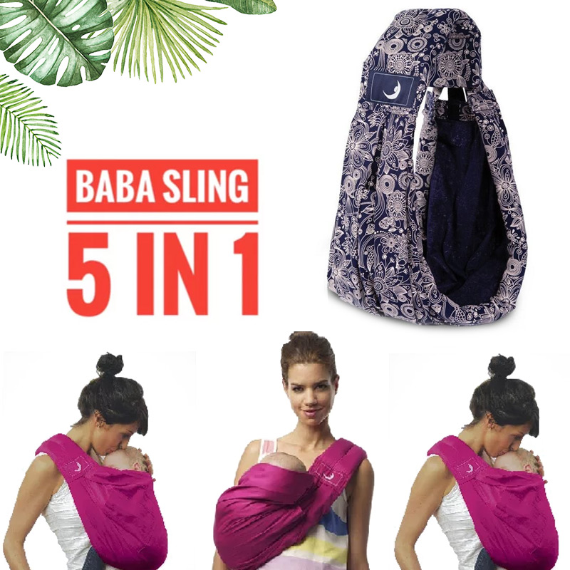 Breathable Front Facing Baby Carrier 5 In 1 Infant Comfortable Sling Backpack Pouch Wrap Baby Adjustable  Baby Safety Carrier