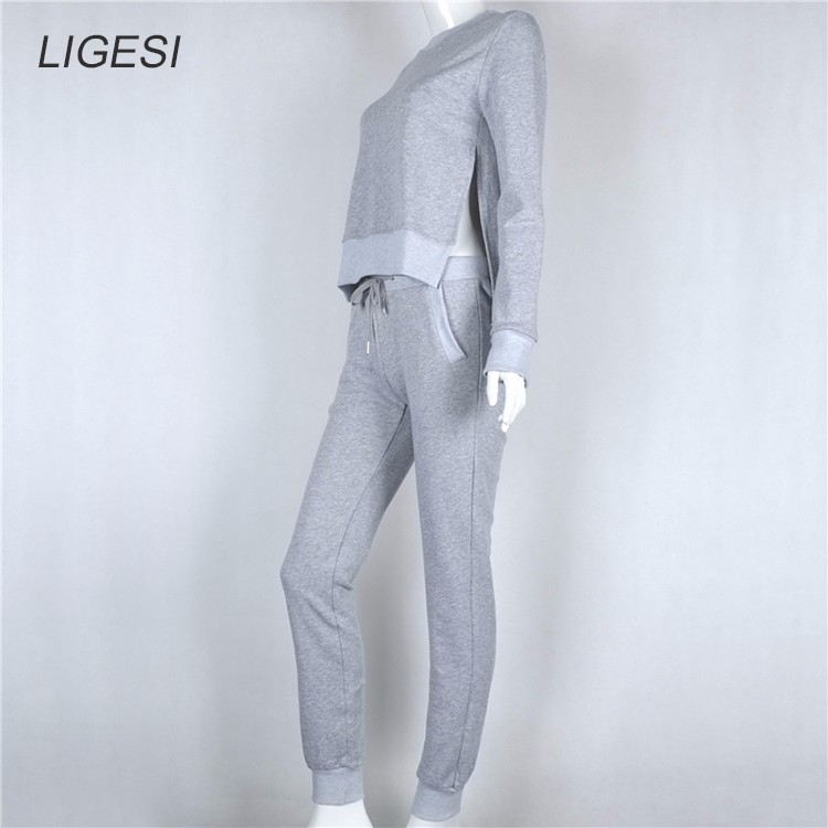 Women's Cotton Tracksuit, 2 Piece Set, Sportswear Suit, Women's Irregular Tracksuit 29