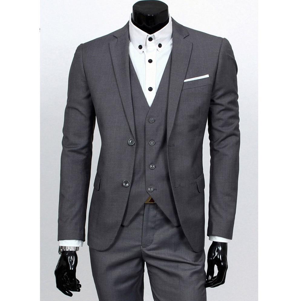 De Chaqueta Traje Sensfun 3 burgundy Pantalones Chaleco Dark grey Botón  Hombre blue Un Trajes red Negocios ... 49f8212f3857