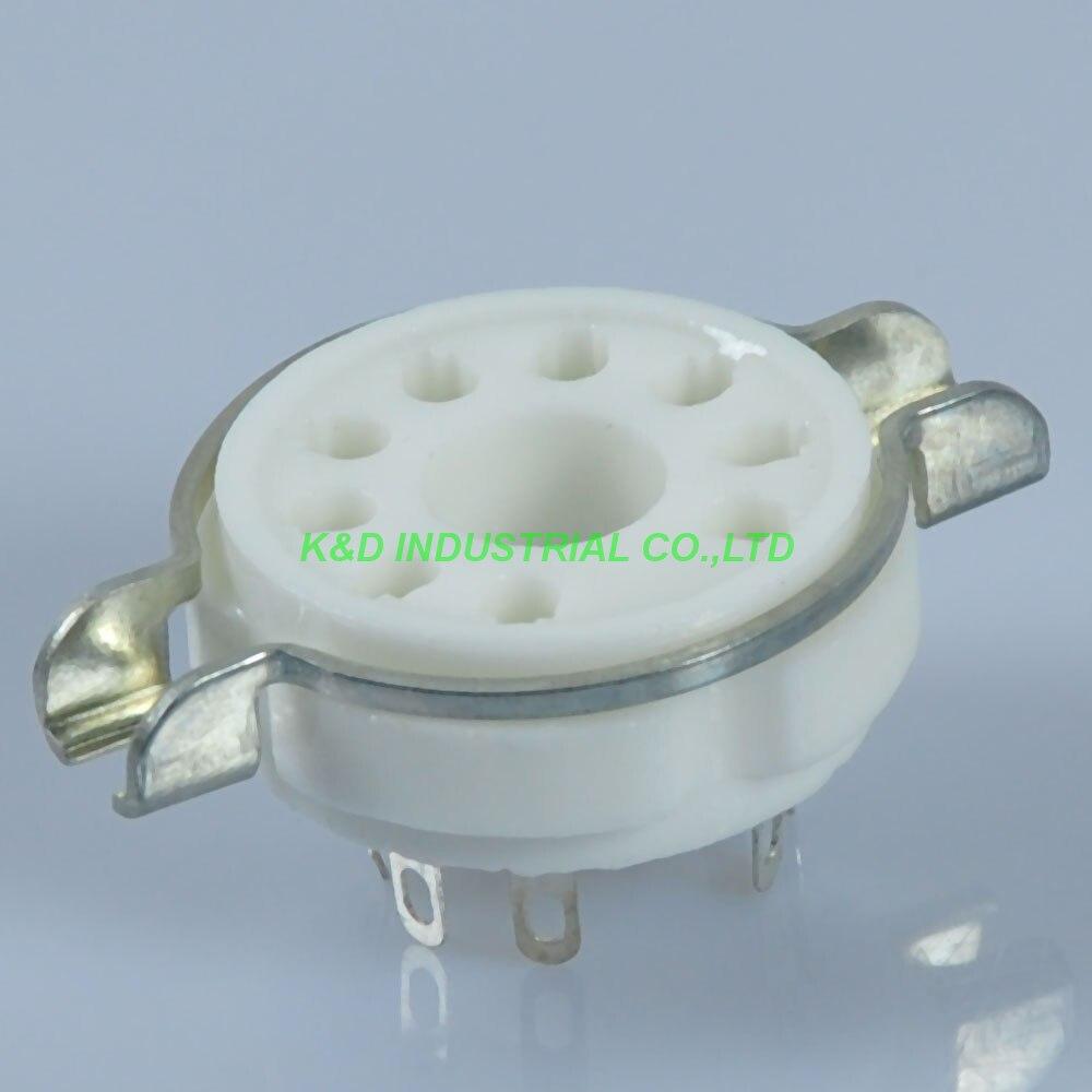 5 pcs 9Pin B9A Soquete do Tubo de Vácuo de Cerâmica EL509 EL504 EL502 6LQ6 7868