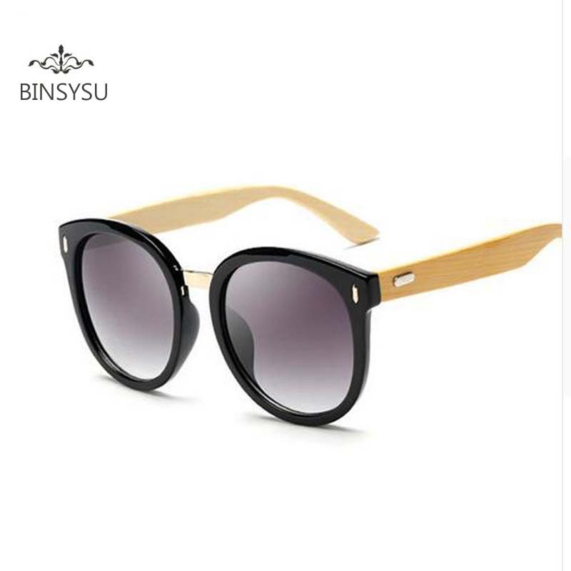 New bamboo foot sunglasses explosion in the metal beam in the women 's fashion women' s glasses1522
