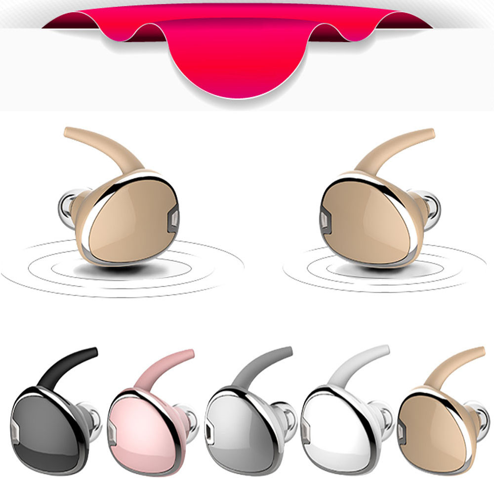 2017 New Mini TWS Twins Wireless Bluetooth Earphone Stereo Headset In-Ear Earphones Earbuds for iPHone Samsung Android #ET1 bluetooth earphone earbuds with car charger 2 in 1 driver mini wireless bluetooth headset earphone for iphone android smartphone