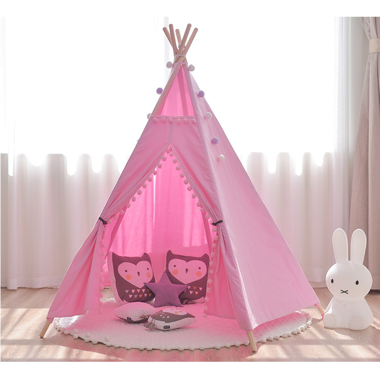 YARD Indian Play Teepee Tent Wooden Firm Children Kids Tipi Tent Teepee Tent Toy Tent Outdoors Indoors Play free shipping kid tent indian teepee tents