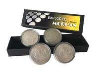 Exploded Morgan by J.C Magic 4 to 16 coins - Close up Magic Tricks,Gimmick,Illusions,Coin Magic,Mentalism,Joke,Classic Mgaia