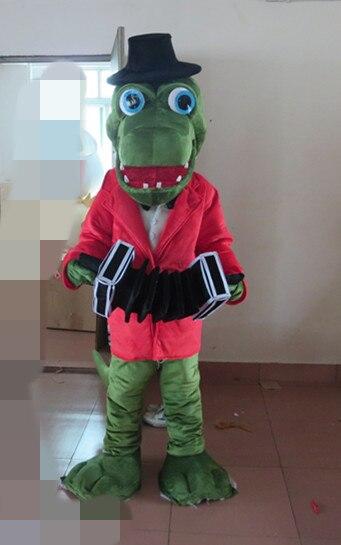 Dernières haute qualité vente belle crocodile costume adulte crocodile costume de mascotte Fête spéciale vêtements