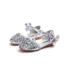 New Crystal Sandals Girls Shoes Shiny Summer Children Beach Hook & Loop Princess Kids Size
