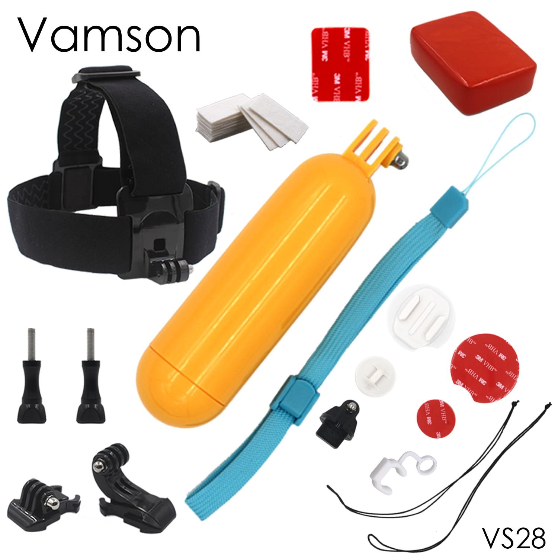 Xiaomi Yi Accessories Floaty Sponge Surfing suit  Kit Head Strap Tripod Monopod For Xiaomiyi 1 2 4k Camera VS28