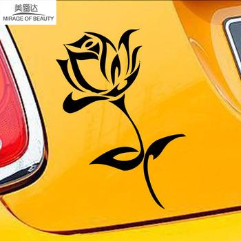 9 8cm * 17 7cm sztuka z motywem roślinnym modelowanie naturalne hibiskus piękne samochodem z kwiatami naklejki winylu samochodowe akcesoria dekoracyjne wzór ścienny LXS tanie i dobre opinie Mirage of beauty Płaska naklejka ścienna Nowoczesne Na ścianę naklejki okienne Jednoczęściowy pakiet WALL Z tworzywa sztucznego