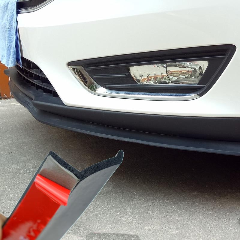 250cm Carbon Fiber Car Front Bumper Spoiler Lip Splitter Valance Chin Protector