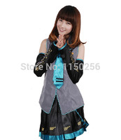 Free Shipping Anime Vocaloid Hatsune Miku Cosplay Costume Party Dress Singing Suit Full Sets Not Include