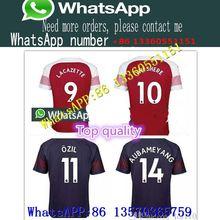 60406e0b76e 2019 Arsenal football jersey 2018 AUBAMEYANG MKHITARYAN SHIRT OZIL 18 19  LACAZETTE TORREIRA XHAKA football top