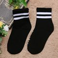 socks  1 Pair Fashion Unisex Men Women Top Stripe Long Cotton Soft Socks Apparel Accessories Free Shipping DM#6