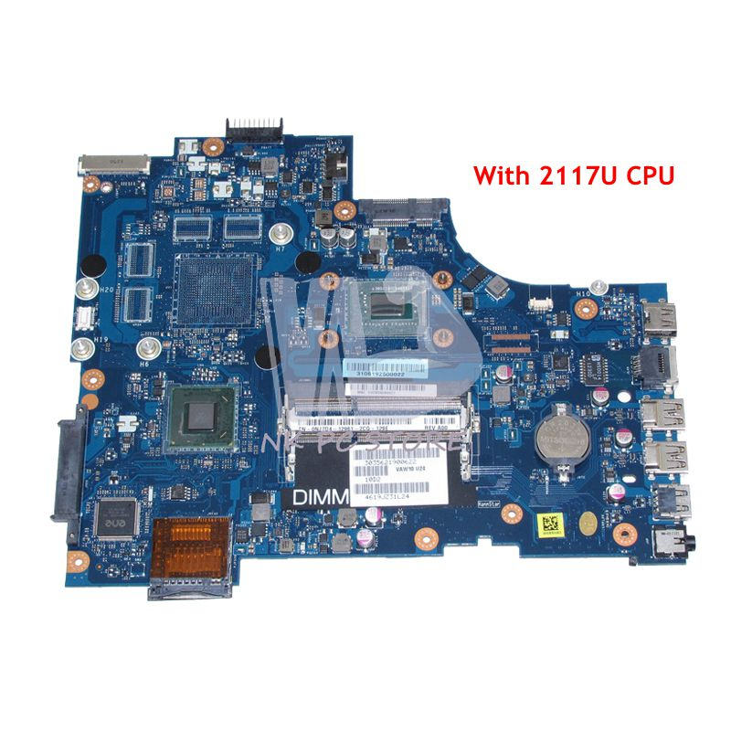 купить NOKOTION CN-0NJ7D4 0NJ7D4 NJ7D4 MAIN BOARD For Dell Inspiron 17 3721 Laptop Motherboard 17.3'' VAW11 LA-9102P 2117U CPU DDR3 онлайн