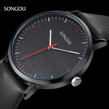 Watches Men Luxury Top Brand SONGDU New Fashion Men's Big Dial Designer Quartz Watch Male Wristwatch Relogio Masculino Relojes