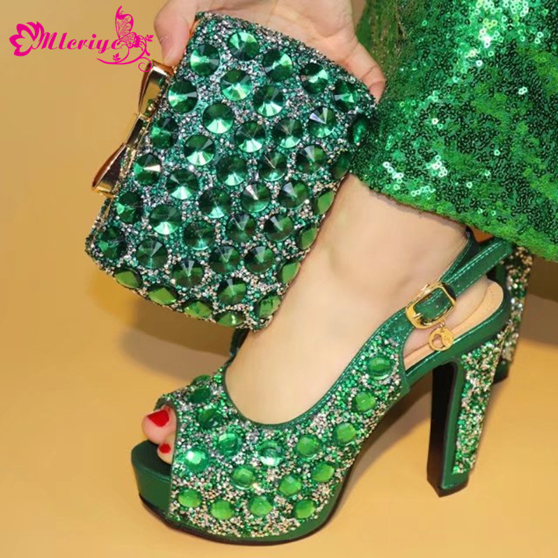 green 2018 Matching Italian Shoe and Bag Set African Matching Shoes and Bag Italian In Women Nigerian Shoes for Party 220v 180w r32 r1234yf special new refrigerant vacuum pump single stage pump air conditioning and refrigeration tools v i125y r32