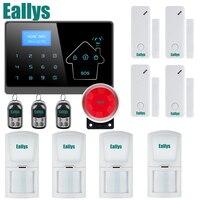ワイヤレスgsm警報システムのためのホームセキュリティシステムでpir/ドアセンサー850/900/1800/1900 mhzデュアルアンテナ2年間保証