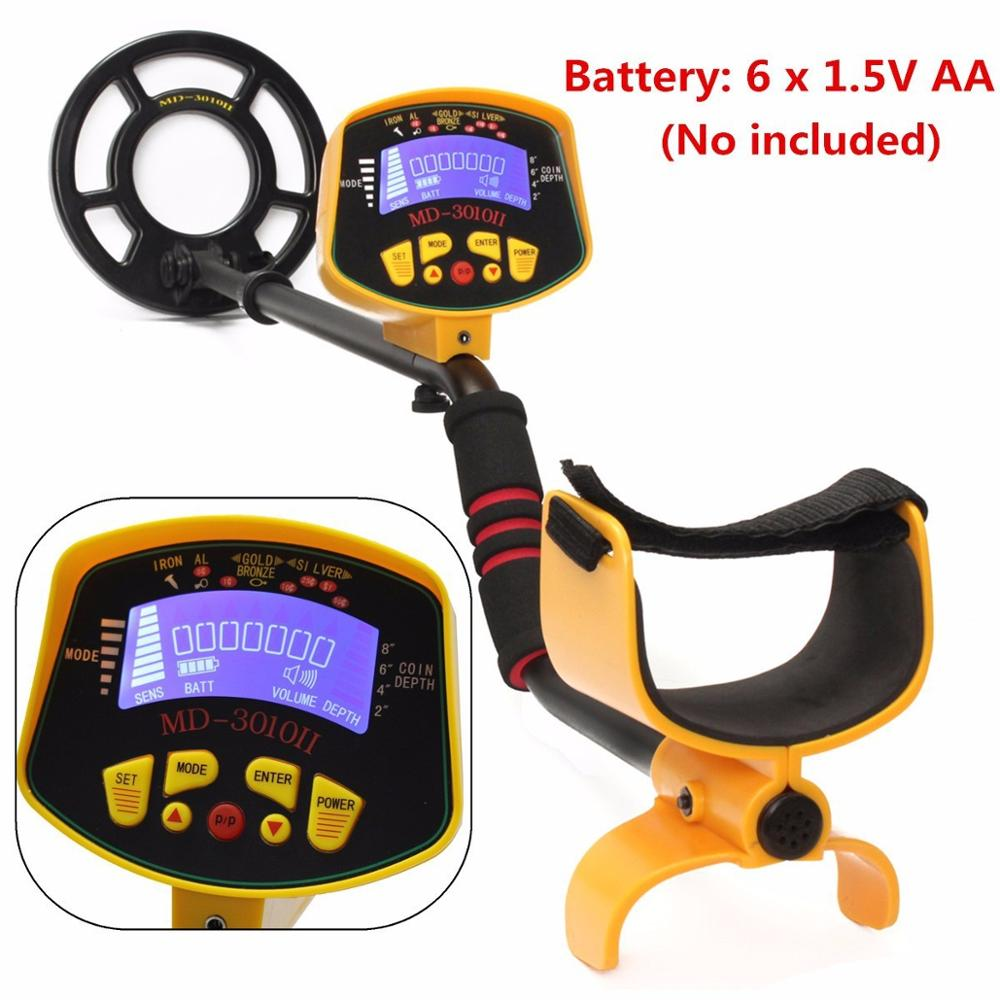 MD3010II Professional Metal Detector Underground with LCD Display Gold Silver Digger Detector Coin Treasure Hunter metal finder md 3010ii underground metal detector professional md3010 nugget finder gold detectortreasure hunter md 3010 metal finder silver