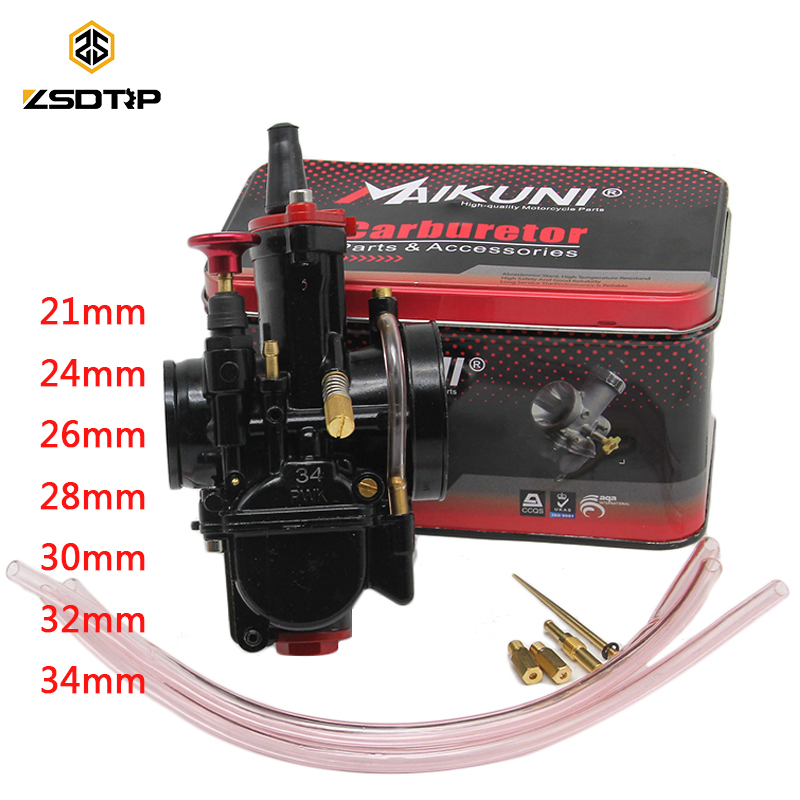 ZSDTRP 21 24 26 28 30 32 34mm Universal Black Mikuni Maikuni PWK Carburetor Parts Scooters With Power Jet Motorcycle ATV zsdtrp pwk mikuni new modify model 28 30 32 34mm carburetor carburador case for yamaha fz16 and other brand motor