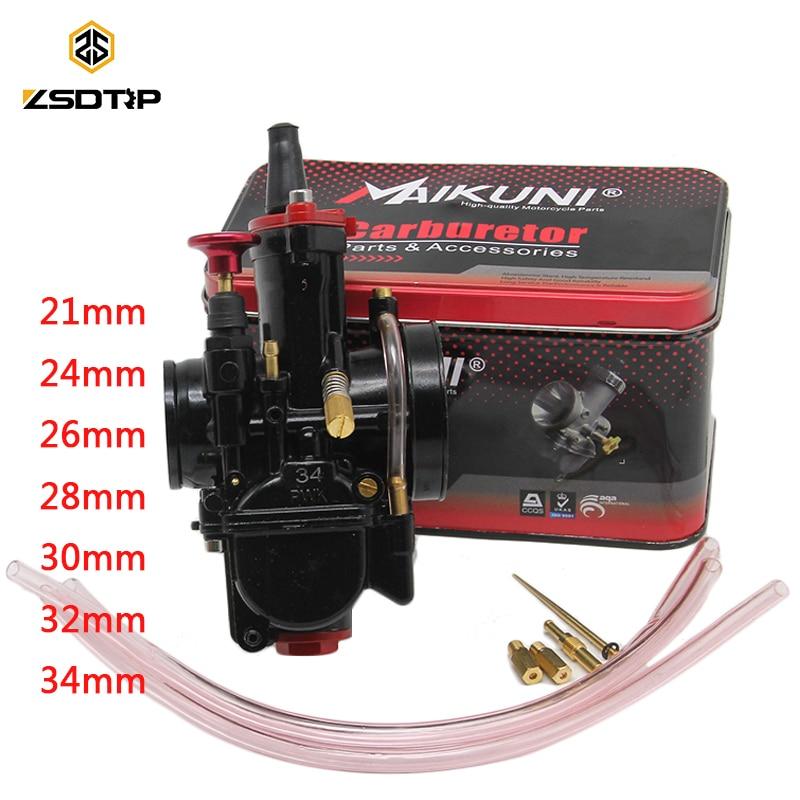 ZSDTRP 21 24 26 28 30 32 34mm Universal Schwarz Mikuni Maikuni PWK Vergaser Teile Roller Mit Power Jet motorrad ATV